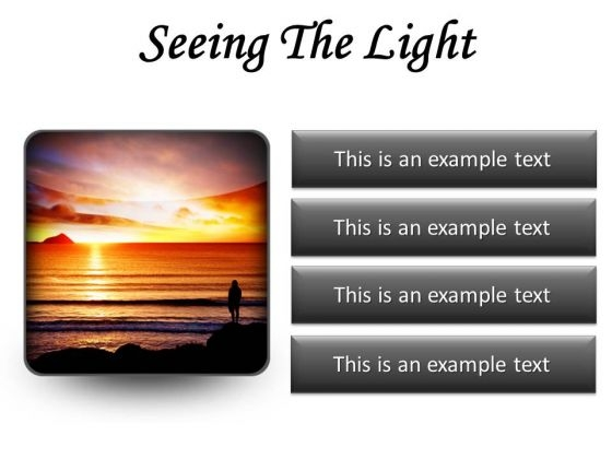 Seeing The Light Nature PowerPoint Presentation Slides S