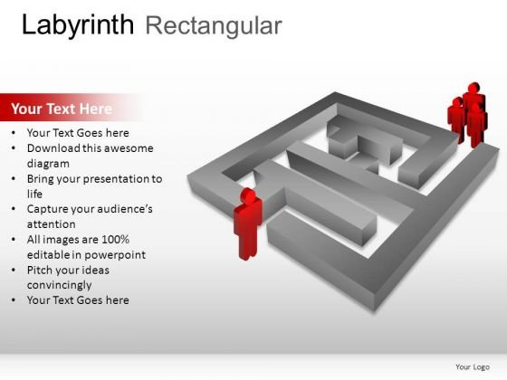 Segment Labyrinth Rectangular PowerPoint Slides And Ppt Diagram Templates