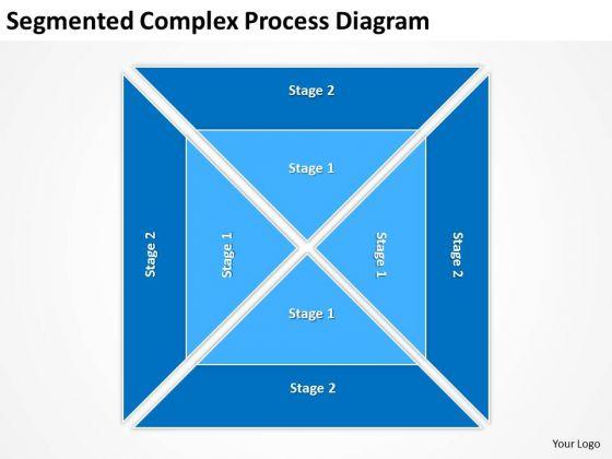 Segmented Complex Process Diagram Ppt Business Plan Structure PowerPoint Templates
