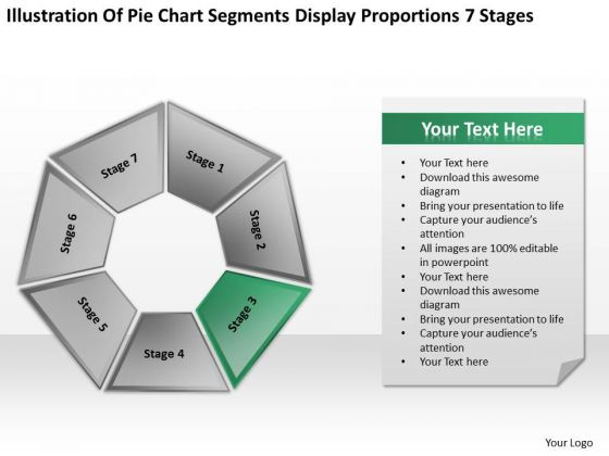 Segments Display Proportions 7 Stages Ppt Business Plan Template PowerPoint Slides