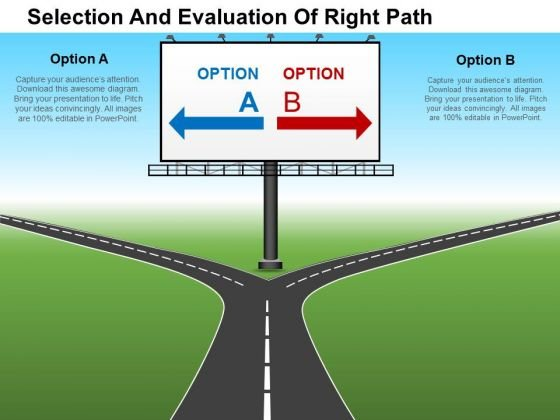 Selection And Evaluation Of Right Path PowerPoint Templates
