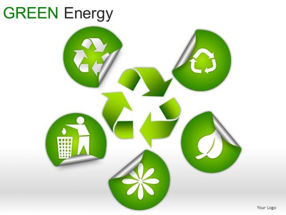 Semicircles Green Energy PowerPoint Slides And Ppt Diagrams Templates