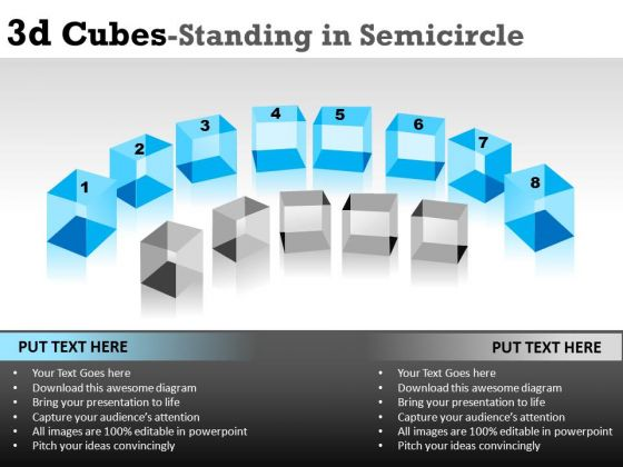 Semicircular 3d Cubes PowerPoint Slides And Ppt Diagram Templates