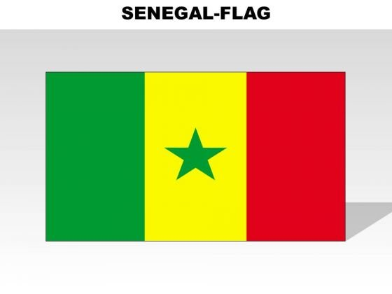 Senegal Country PowerPoint Flags