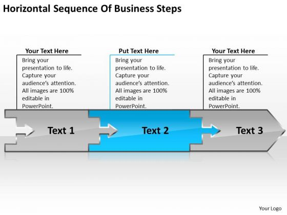 sequence of free business powerpoint templates steps chart work flow