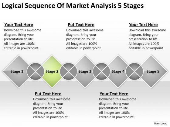 Sequence Of Market Analysis 5 Stages Business Financial Planning PowerPoint Templates