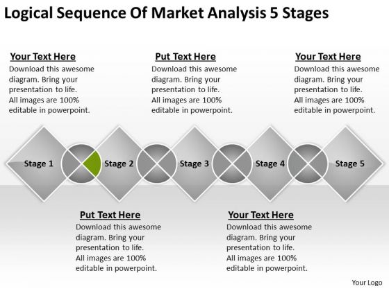 Sequence Of Market Analysis 5 Stages Ppt Business Plan PowerPoint Templates