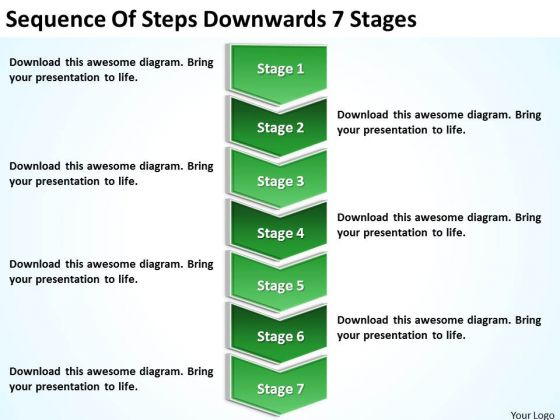 Sequence Of Steps Downwards 7 Stages Ppt Sample Business – Sample Business Continuity Plan