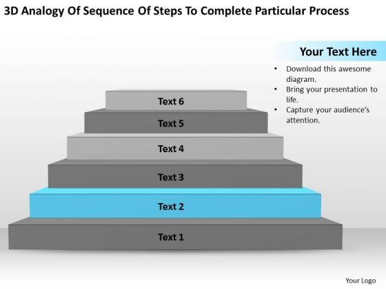 Sequence Steps To Complete Particular Process Ppt Business Plan PowerPoint Slides