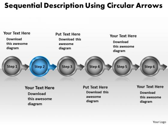 process modeling powerpoint templates sequential_description_using_circular_arrows_business_process_modeling_powerpoint_templates_1 - Process Modeling Ppt