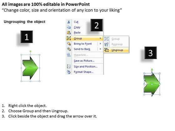 sequential flow arrow 6 steps free chart maker powerpoint