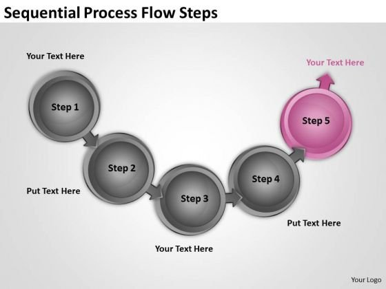 Sequential Process Flow Steps Business Plans Made Easy PowerPoint Templates