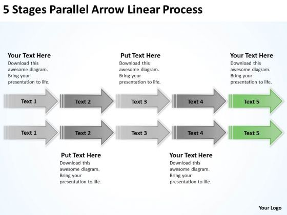 Serial And Parallel Processing 5 Stages Arrow Linear Ppt PowerPoint Slides