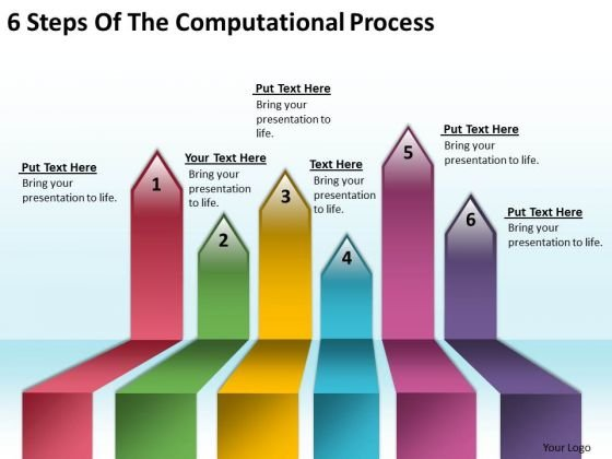 Serial And Parallel Processing 6 Steps Of The Computational PowerPoint Templates