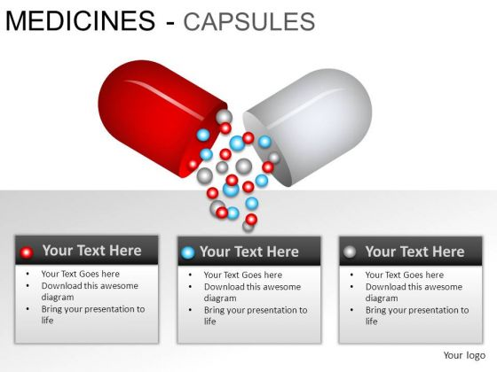 Services Medical Capsules PowerPoint Slides And Ppt Diagram Templates