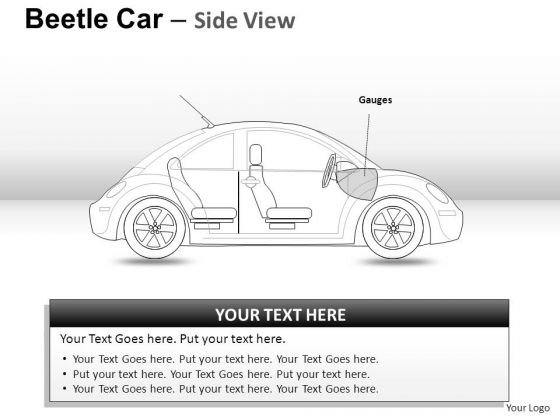 Services Red Beetle Car PowerPoint Slides And Ppt Diagram Templates