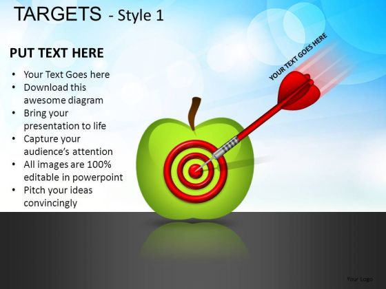 Services Targets 1 PowerPoint Slides And Ppt Diagram Templates