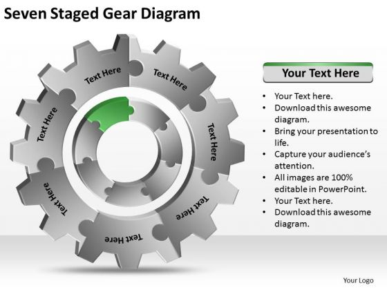Seven Staged Gear Diagram Ppt Business Plans For Small PowerPoint Slides