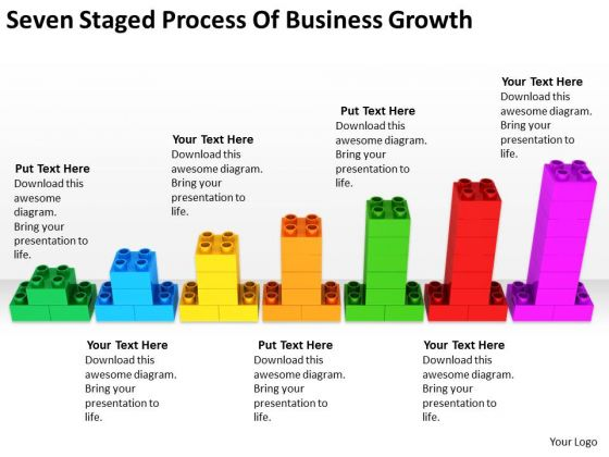 Seven Staged Process Of Business Growth Ppt Exit Strategy Plan PowerPoint Templates
