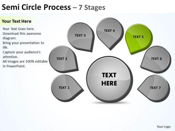 Seven Steps Business PowerPoint Templates Download Strategy Ppt Venn Diagram Slide