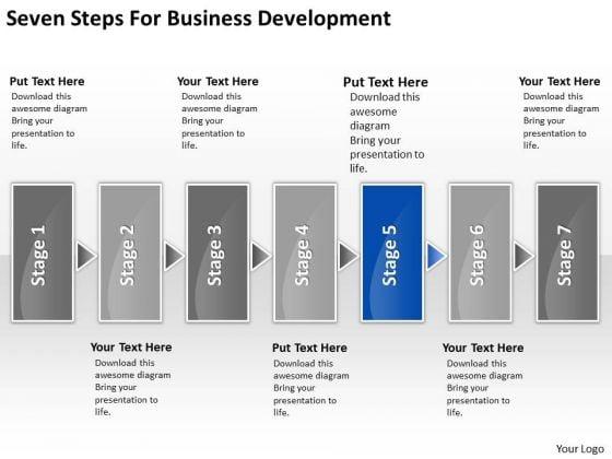 Seven Steps For Business Development Basic Plan Outline PowerPoint Slides