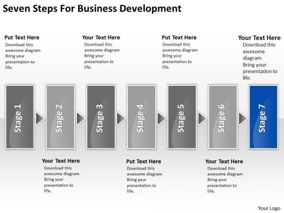 Seven Steps For Business Development Who Writes Plans PowerPoint Templates