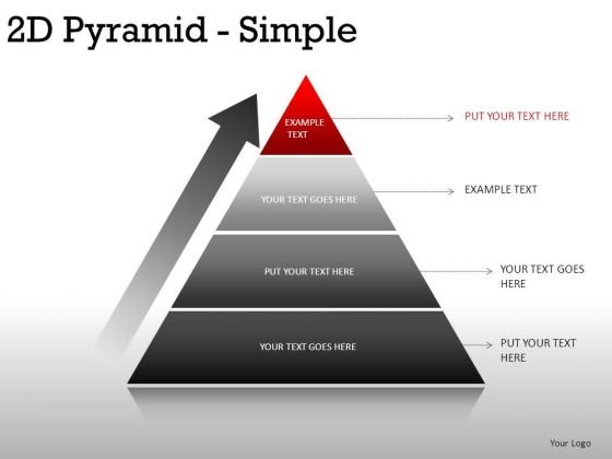 Shadow 2d Pyramid Simple PowerPoint Slides And Ppt Diagram Templates