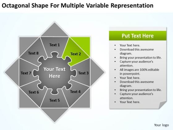 Shape For Multiple Variable Representation Ppt 2 Business Plans Start Up PowerPoint Templates