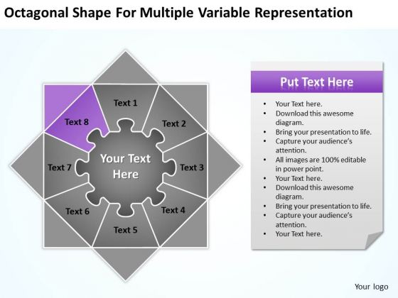 Shape For Multiple Variable Representation Ppt 8 New Business Plan Template PowerPoint Slides