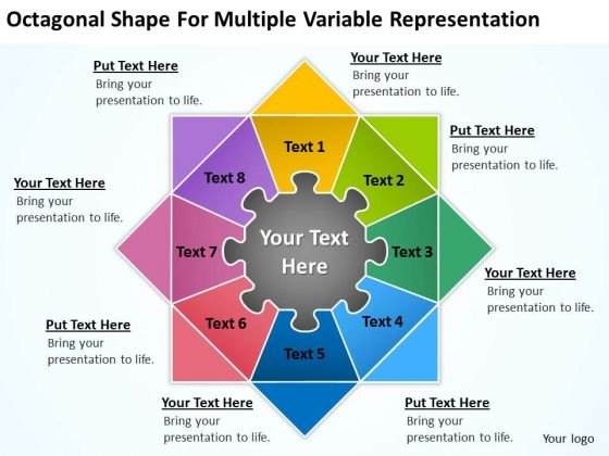 Shape For Multiple Variable Representation Ppt Business Plan Outlines PowerPoint Slides