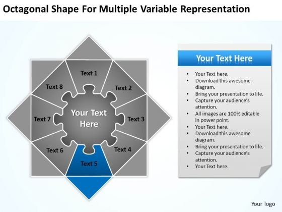 Shape For Multiple Variable Representation Ppt Sample Business Plan PowerPoint Slides