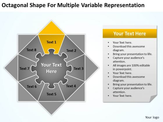 Shape For Multiple Variable Representation Ppt Simple Business Plan Example PowerPoint Slides