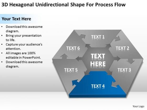 Shape For Process Flow Simple Business Plan Template PowerPoint Templates