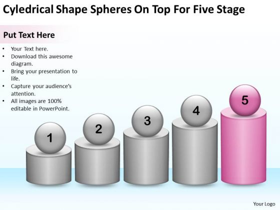 Shape Spheres On Top For Five Stage Ppt Microsoft Business Plan Software PowerPoint Templates