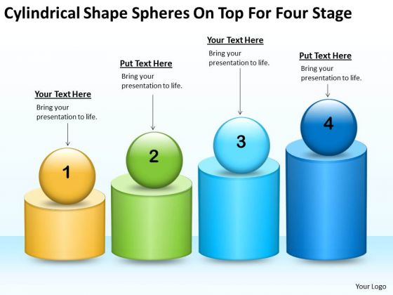 Shape Spheres On Top For Four Stage Ppt Real Estate Business Plan PowerPoint Templates