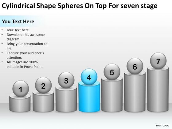 Shape Spheres On Top For Seven Stage Ppt Consulting Business Plan PowerPoint Templates