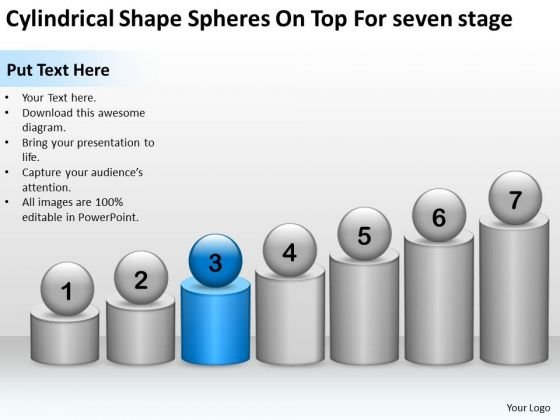 Shape Spheres On Top For Seven Stage Ppt Network Marketing Business Plan PowerPoint Slides