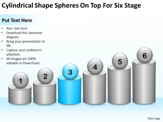 Shape Spheres On Top For Six Stage Ppt Business Continuity Plan Example PowerPoint Templates