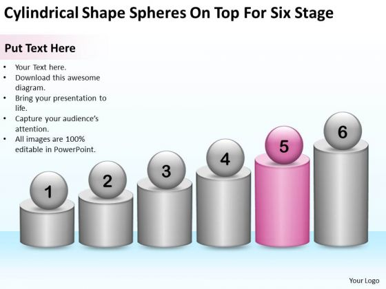 Shape Spheres On Top For Six Stage Ppt Business Proposal Template PowerPoint Templates