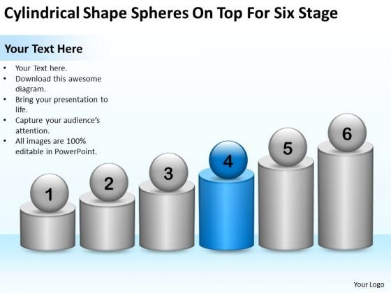 Shape Spheres On Top For Six Stage Ppt Making Business Plan Template PowerPoint Slides