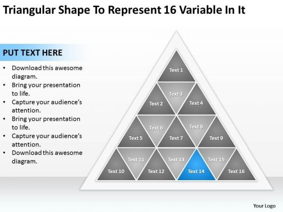 Shape To Represent 16 Variable In It Ppt Business Plan Outline Sample PowerPoint Slides
