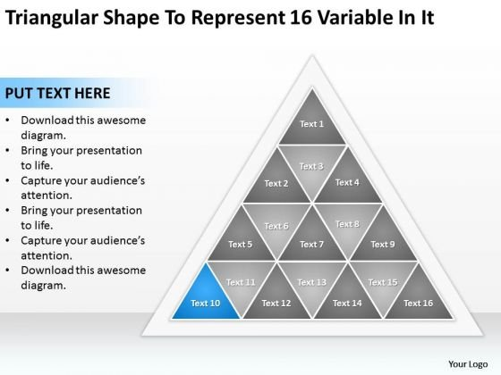 Shape To Represent 16 Variable In It Ppt Writing Up Business Plan PowerPoint Slides