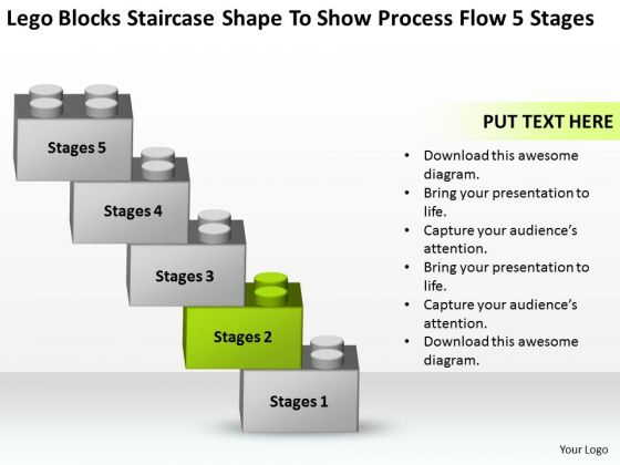 Shape To Show Process Flow 5 Stages Ppt Business Plan Template PowerPoint Templates