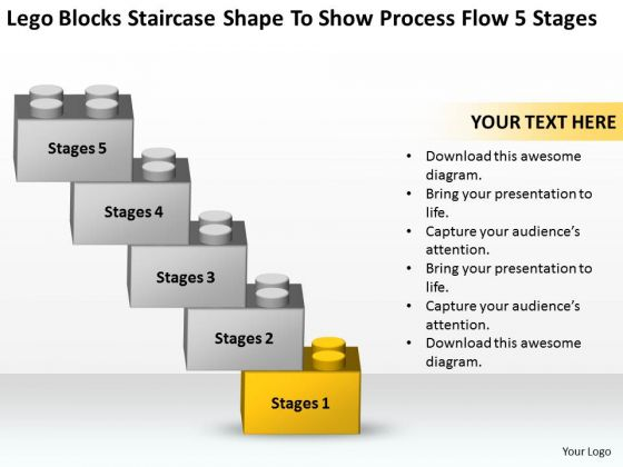 Shape To Show Process Flow 5 Stages Ppt Companies That Write Business Plans PowerPoint Slides