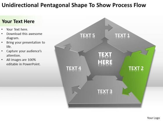 Shape To Show Process Flow Ppt Write Business Plan Template Free PowerPoint Slides