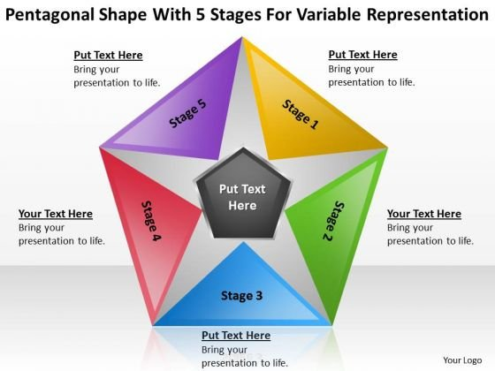 Shape With 5 Stages For Variable Representation Ppt Catering Business Plan PowerPoint Slides