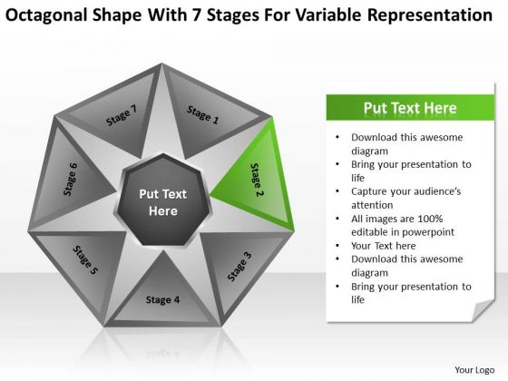 Shape With 7 Stages For Variable Representation Ppt Creating Business PowerPoint Slides
