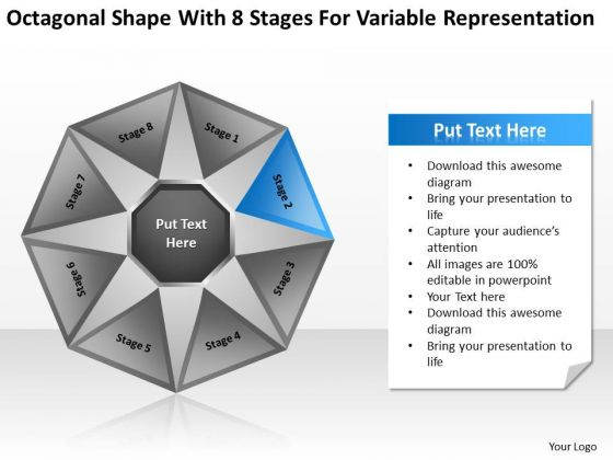 Shape With 8 Stages For Variable Representation Ppt Business Plan How To PowerPoint Slides