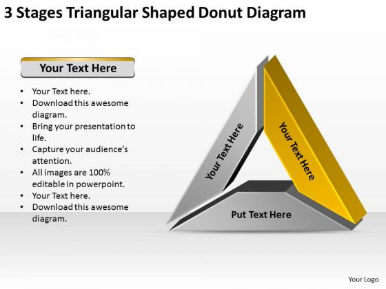 Shaped Donut Diagram Data Comparison It Business Plan Template PowerPoint Templates