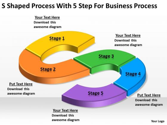 Shaped Proceswith Step For How To Write Business Plans PowerPoint - How to write a business process